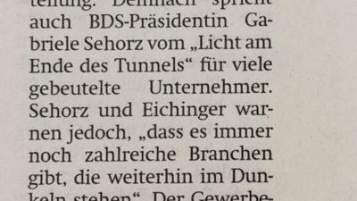 """BDS Finsing warnt – """"Keine Branche darf vergessen werden"""""""