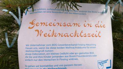 Gemeinsam in die Weihnachtszeit – Wunschbäume im neuen Ortszentrum von Neufinsing